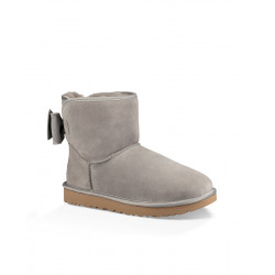 BOTA UGG SATIN BOW MINI GRIS