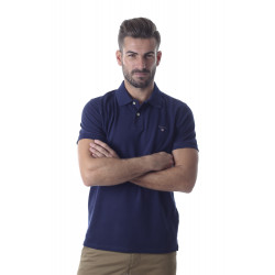 Polo Gant piqué original blue